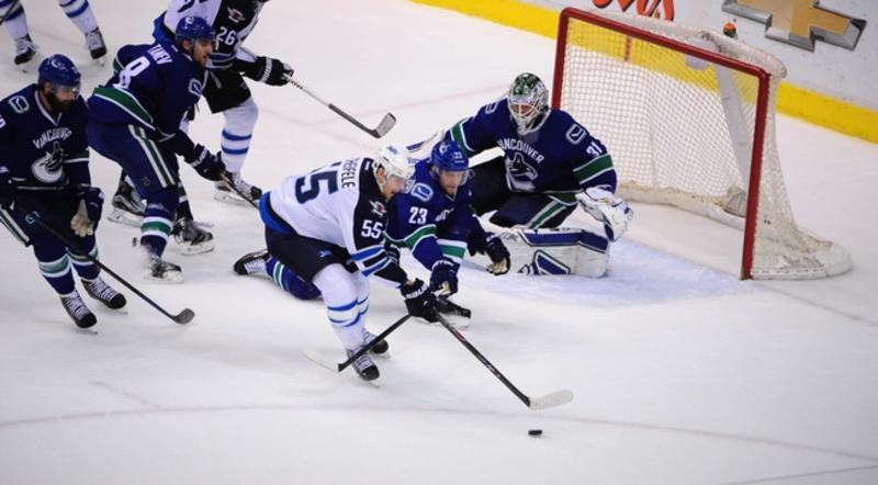NHL: Winnipeg Jets at Vancouver Canucks