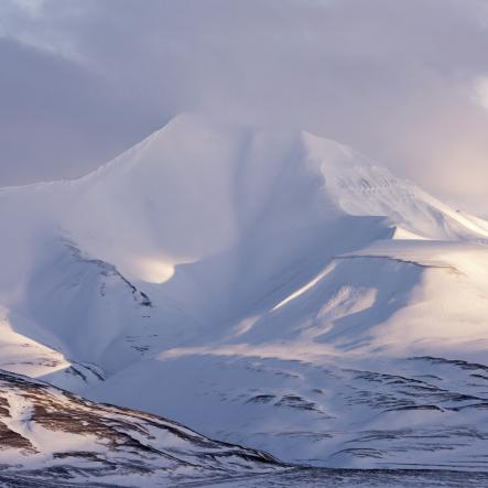 Snow-capped mountains, Svalbard