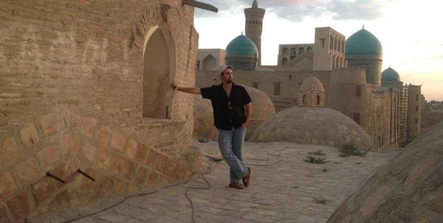Wilson on tour in Uzbekistan with Pine Leaf Boys