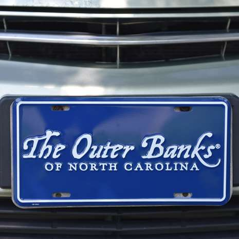 OBX | Outer Banks Novelty license plate