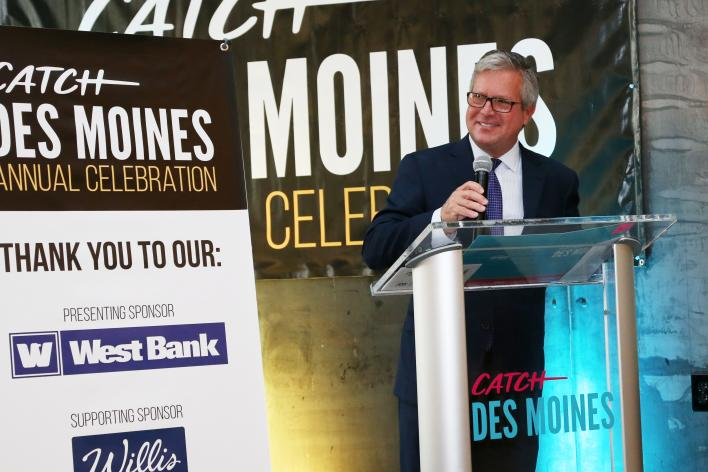 Greg Edwards at the 2018 Catch Des Moines Annual Celebration