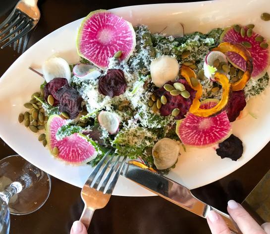 Salad at The Grill at 41 North