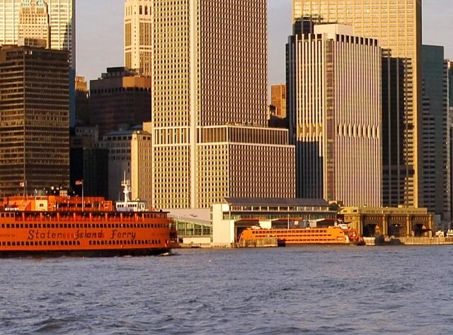Lower Manhattan and Staten Island Ferry