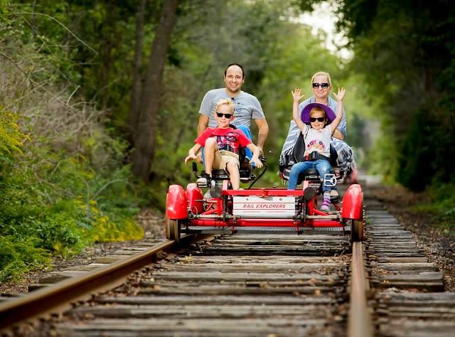 Rail Explorers in Catksills