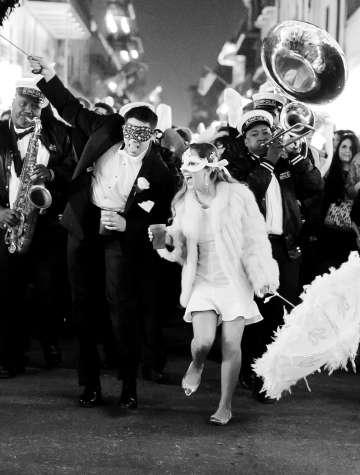 French Quarter wedding second line