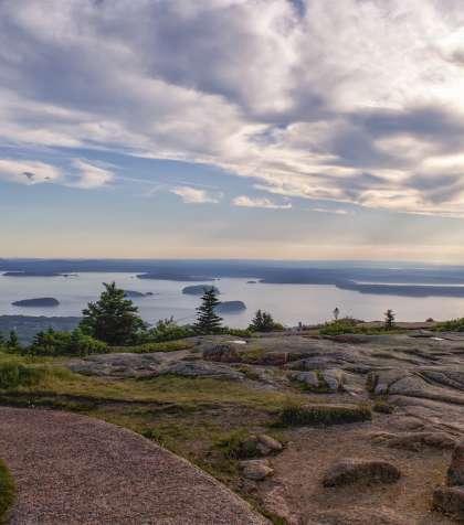 Cadillac Mountain Bar Harbor Acadia National Park Maine