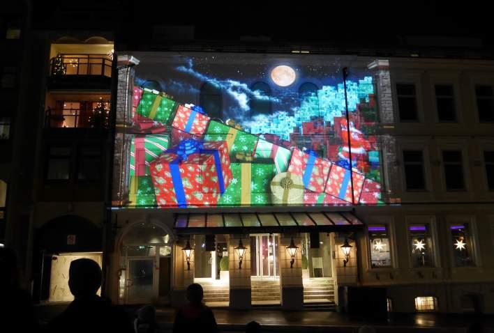 3D lysshow i Julebyen Kristiansand