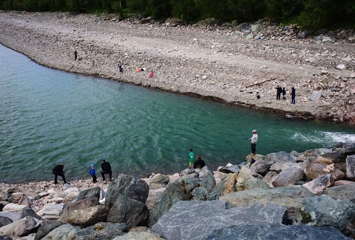 Fiske ved Gjevilvatnet i Oppdal