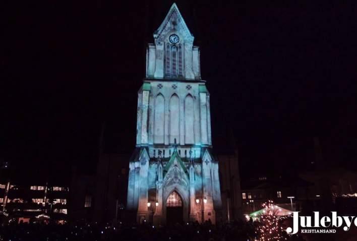 3D lysshow på Domkirken i Kristiansand 2018 - 3D light show on Kristiansand Cathedral