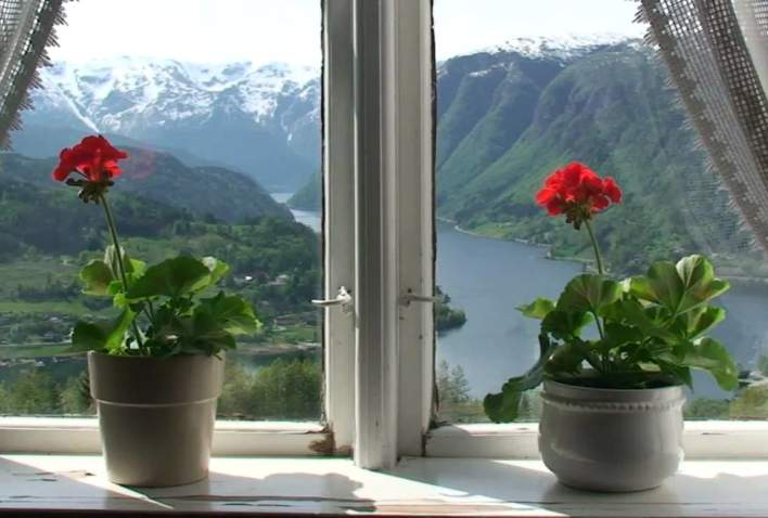 Views from Hardanger in Hordaland, Norway