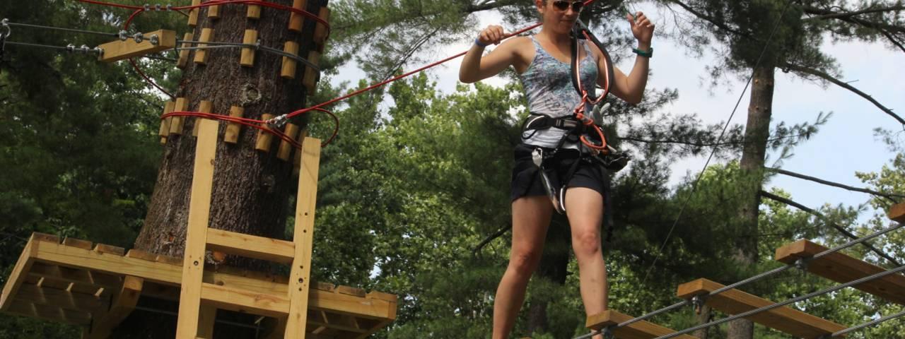 Elmwood Park Zoo Treetop Adventures Header