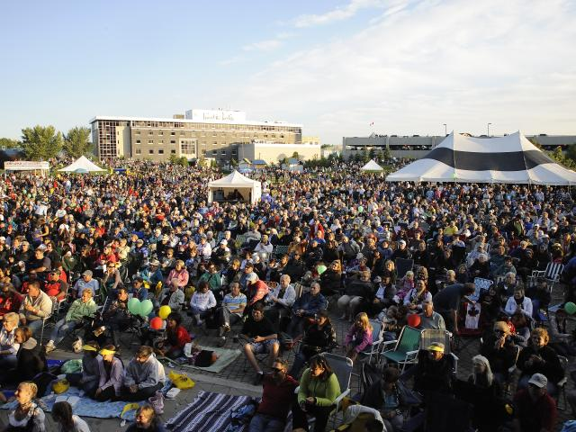 Crowd at The Forks for Folklorama