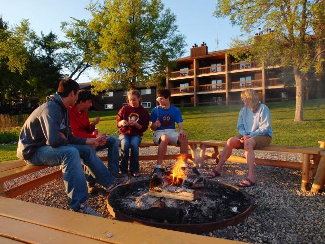 Family Time Around the Fire Pit at Elkhorn Resort