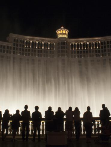 Bellagio Fountains - Night