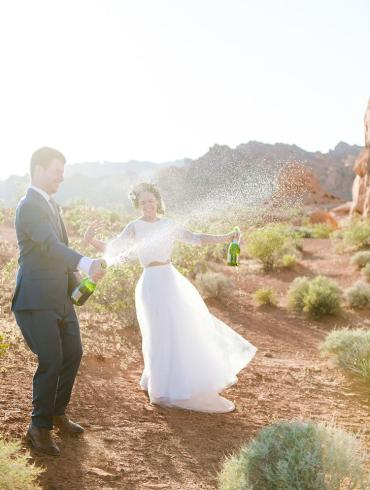 Desert Wedding Champagne