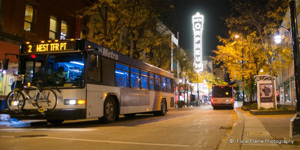 Bus at Night