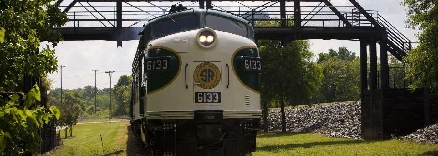 Southern Railway #6133 Train under the Bridge at the NC Transportation Museum