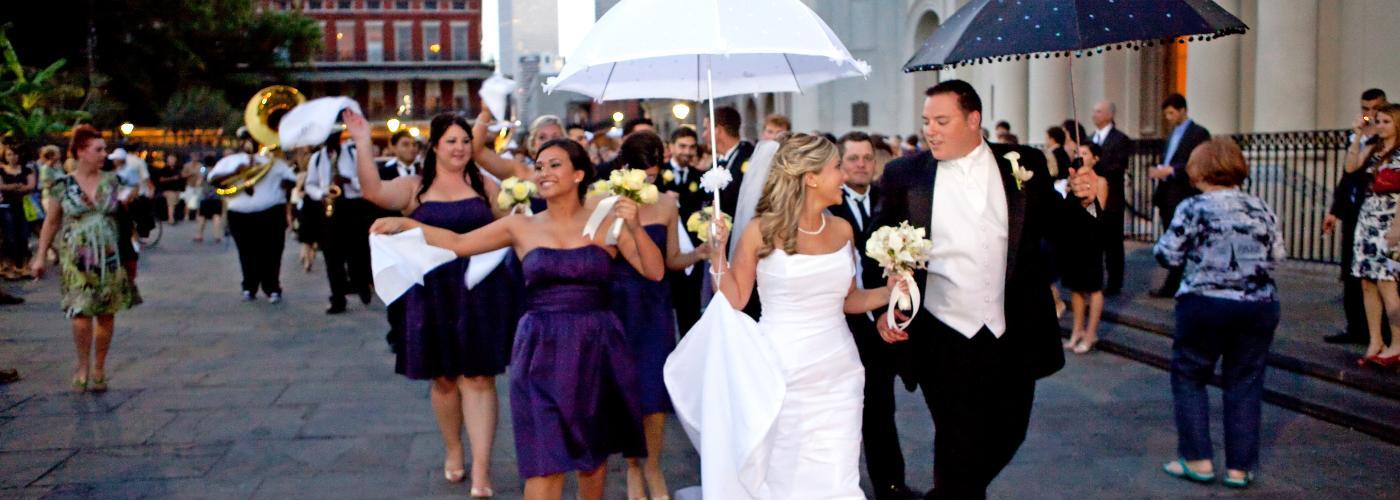 Jackson Square wedding second line