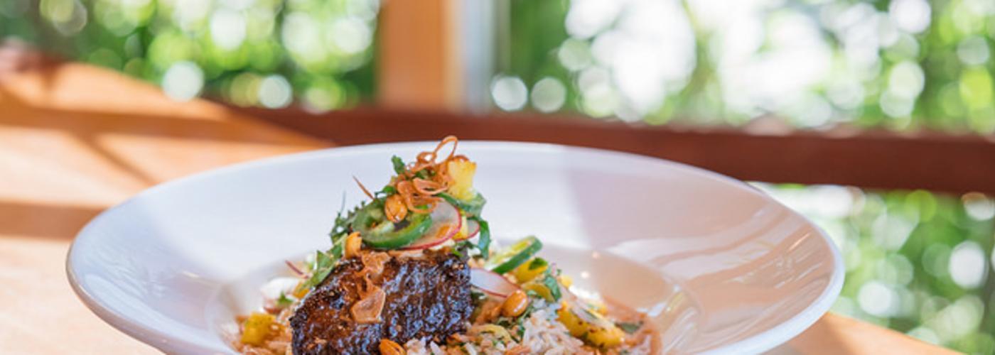 Short Rib with Adobe Sauce and Mango Salad from Mondo Restaurant