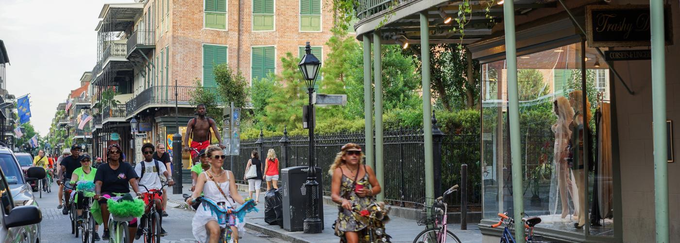 Bicyclists on Royal Street