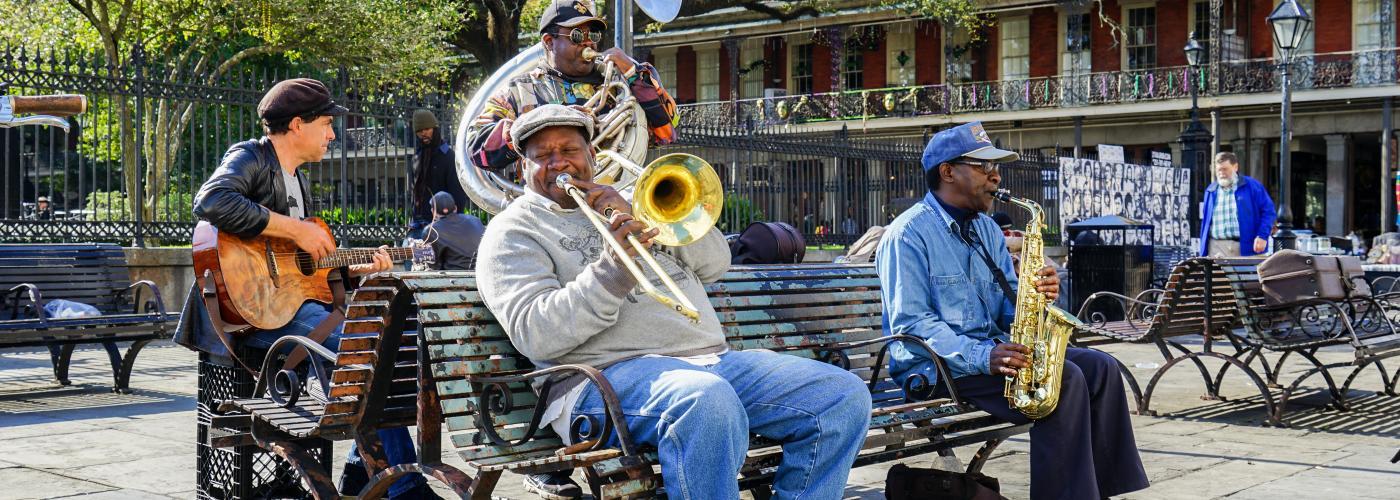 Jackson Square Brass Band - Street Musicians - Spring