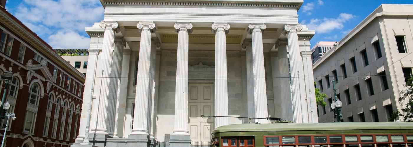Gallier Hall- Central Business District- Streetcar