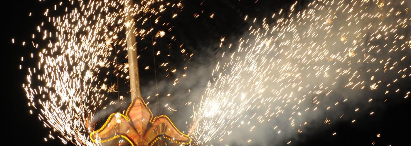 New Year's Eve Fleur de Lis Drop
