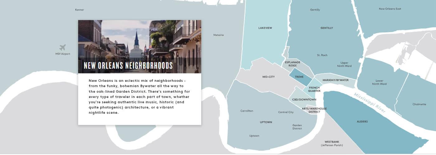 New Orleans Neighborhood Map