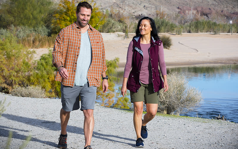 Couple River Path Laughlin