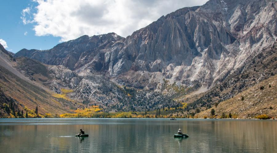 Convict Lake Fall Color Fisherman