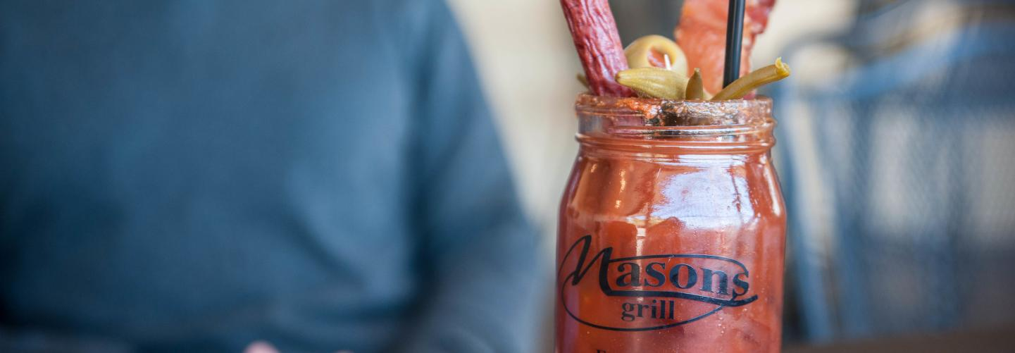 Close-up of Mason's Grill award-winning Bloody Mason