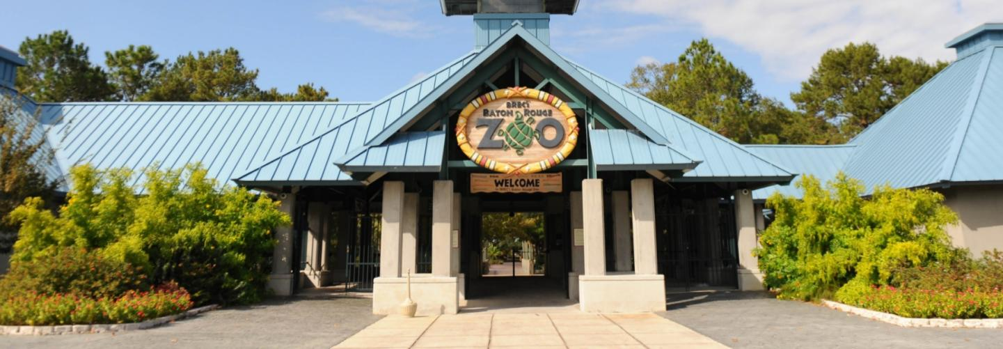 Front entrance to the Baton Rouge Zoo