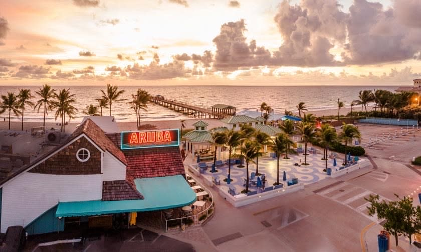 Overhead View Of Aruba Beach Cafe In Greater Fort Lauderdale