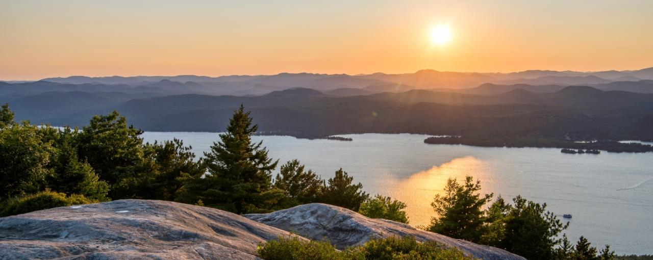View of Lake George from Buck Mountain