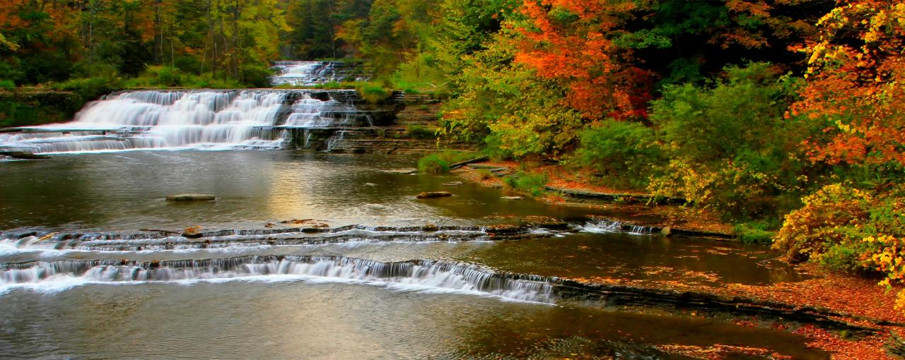 Wiscoy Falls - Photo courtesy of Allegany County