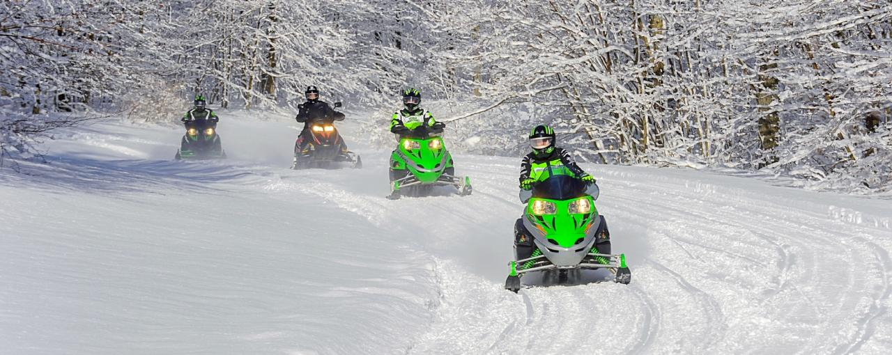 Snowmobiling at Allegany State Park