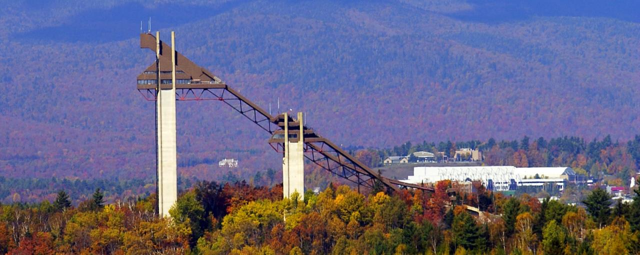 Ski jumps at Olympic Jumping Complex