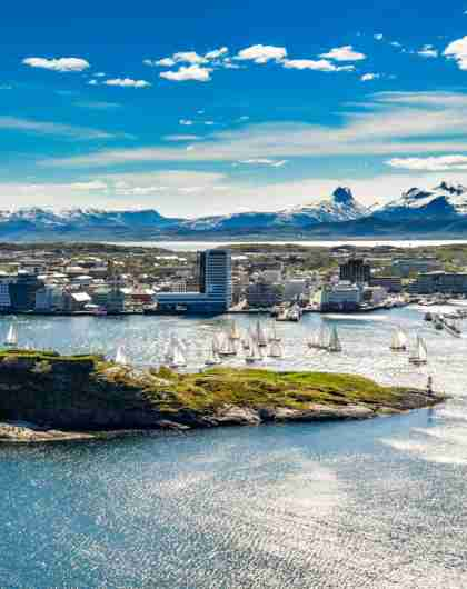 Bodø city, Northern Norway, a sunny summer day