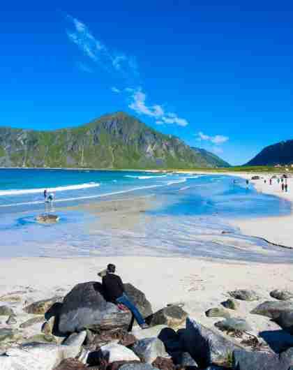 Skagsanden Beach Flakstad Lofoten
