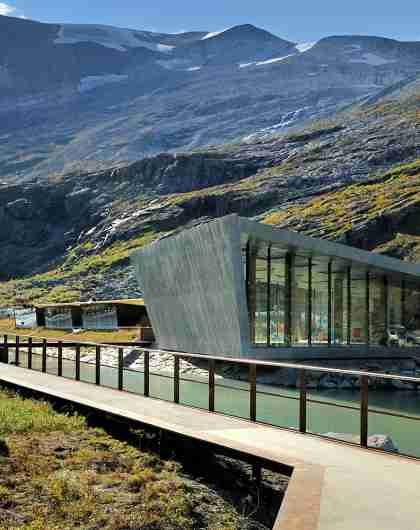 Trollstigen cafe and visitor centre in Fjord Norway