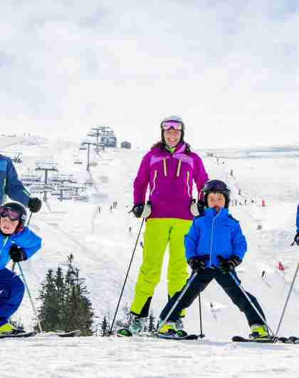 Alpine skiing in Trysil, one of Norway's top ski resorts