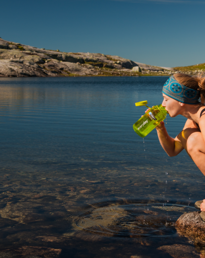 When hiking in the national parks in Trøndelag, its nothing like a refill with fresh mountain water.