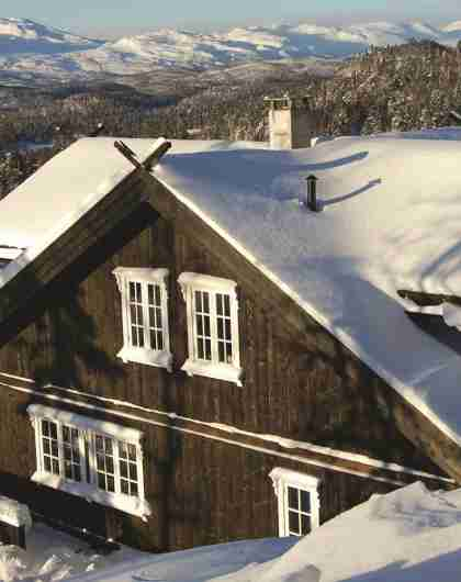 Hytte ved pisterne i Rauland, Norge