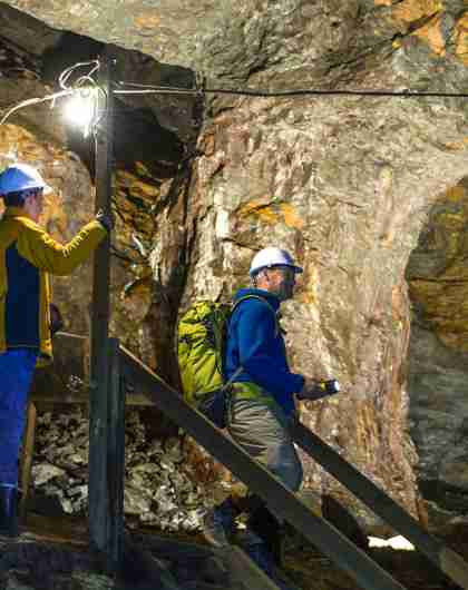 Three people in the St. Olav's Mine