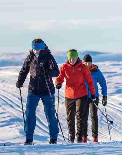 Längdåkare i Valdres i regionen Østlandet (östra Norge)