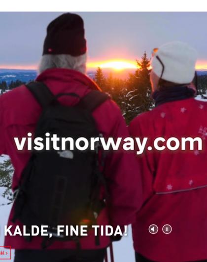 Visitnorway.com forside