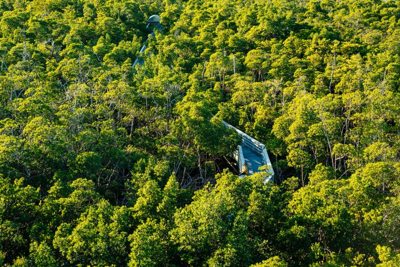 Aerial view of the Anne Kolb Nature Center in Hollywood, Florida
