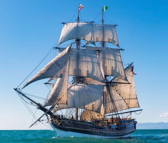 pirates of the caribbean ship docked in monterey november 8 25 2018