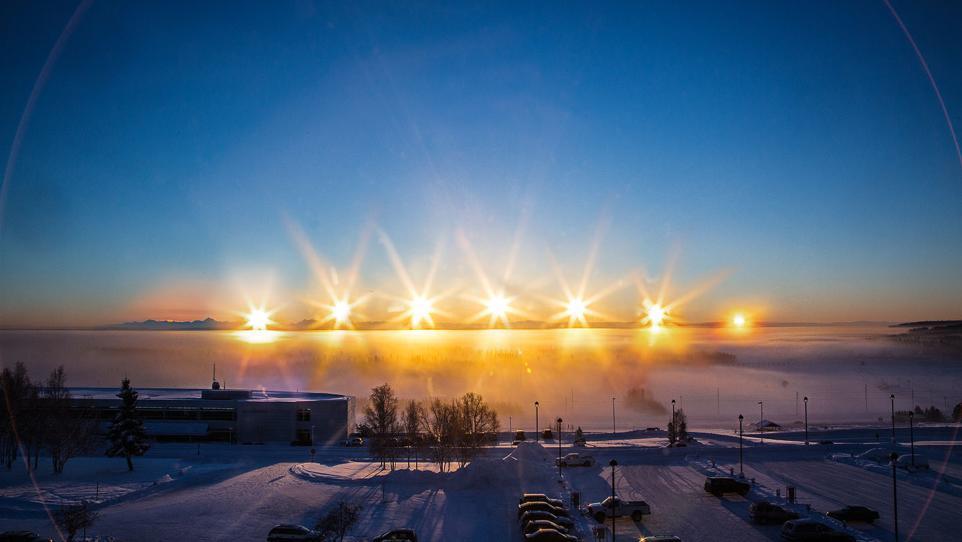 here s what winter solstice looks like in fairbanks alaska