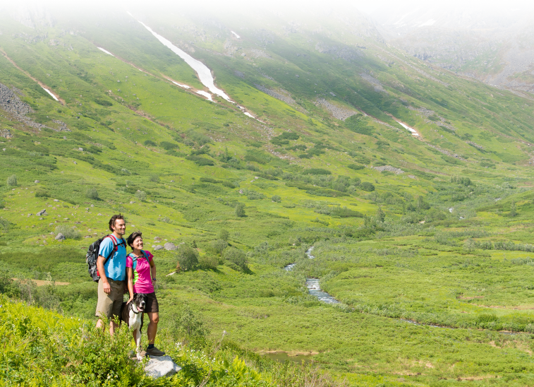 Hikers at Hatcher Pass